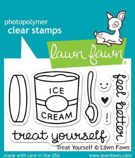 LF0897  S ~ TREAT YOURSELF ~ CLEAR STAMPS BY LAWN FAWN